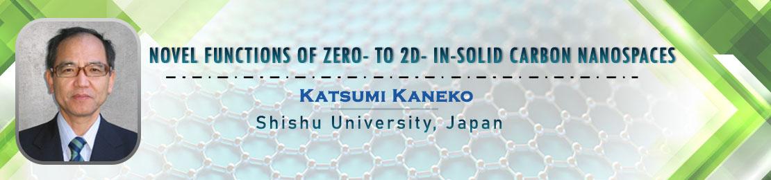 Katsumi Kaneko, Material Science 2021, Scientex Conferences