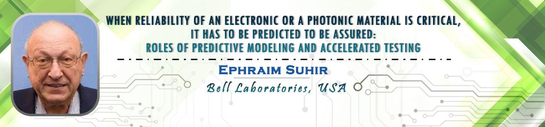 Ephraim Suhir, Material Science 2021, Scientex Conferences